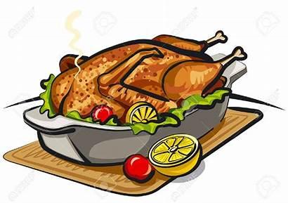 Clipart Duck Roasted Chicken Roast Dinner Dish