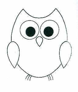 Simple Owl Outline | DIY Gifts | Pinterest | Outlines, Owl ...