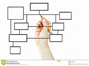 Hand Drawing Blank Business Diagram Stock Image