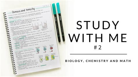 Study With Me #2  Biology Notes, Chemistry Notes And Math  Studytee Youtube