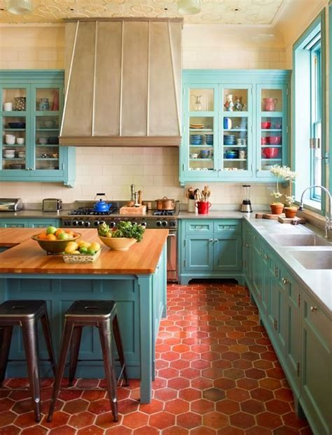 turquoise  aqua kitchen ideas refresh restyle