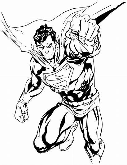 Superman Coloring Pages Wonder Woman Printable Comics