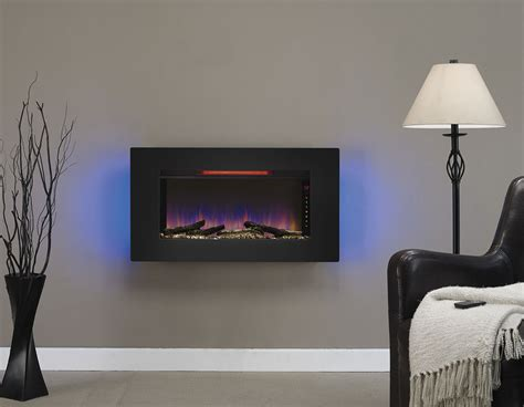 wall hanging fireplace classicflame 36 in elysium infrared wall hanging electric
