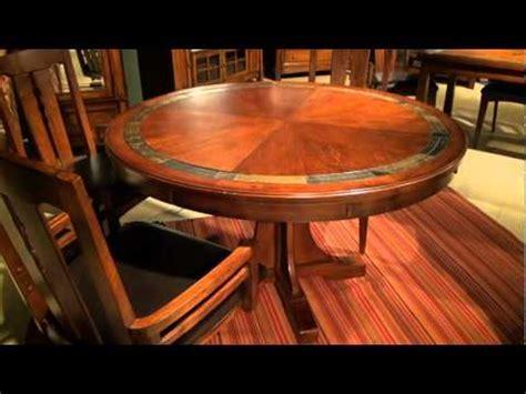 Craftsman Home Round Convert A Height Pedestal Dining
