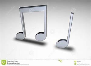 3d Music Notes Royalty Free Stock Photos - Image: 1312998