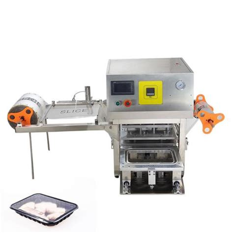 china desktop type automatic food fruit tray heat sealing machine supplier