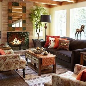 29, Cozy, And, Inviting, Fall, Living, Room, D, U00e9cor, Ideas