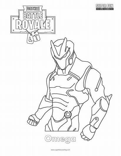 Coloring Omega Skin Fortnite Fun Super Royale