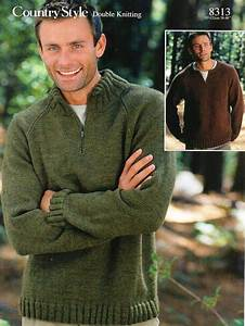 Mens Size Chart Conversion Mens Zip Neck Sweaters Knitting Pattern Pdf Dk Mans Jumpers