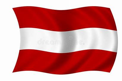 Flag Austrian Vlag Oostenrijkse Royalty Illustration Hungary