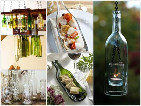 deko mit flaschen diy deko aus glasflaschen 20 inspirierende beispiele und diy projekte