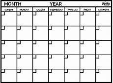 Monthly Calendar yearly calendar template