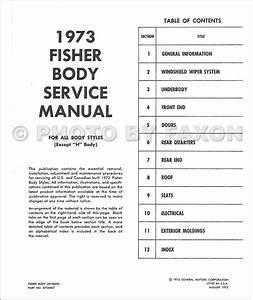 1973 Pontiac Cd Shop Manual And Body Repair Bonneville