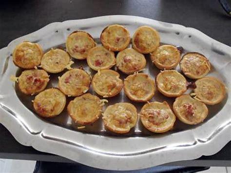 recette de canapé recette de mini quiches lorraine apéritif