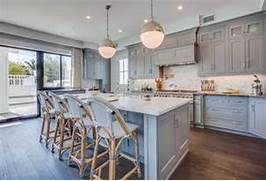 What Are Your Thoughts Of This New Wave Of Color For Kitchen Cabinetry 10 Things You May Not Know About Adding Color To Your Boring Kitchen Gray Blue Cabinets Cottage Kitchen BHG Gray Blue Kitchen Cabinets Transitional