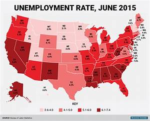 June State Unemployment Rate Map