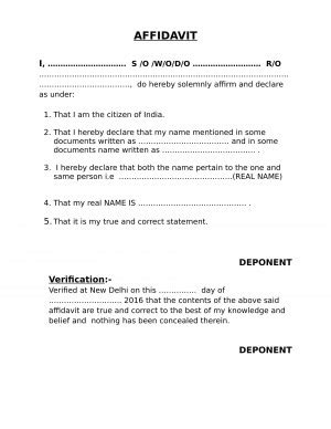 One and Same Person Affidavit | Create Online - eDrafter.in