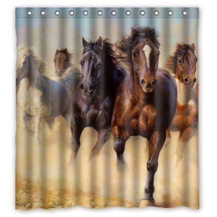 equine shower shower curtains kritters in the mailbox