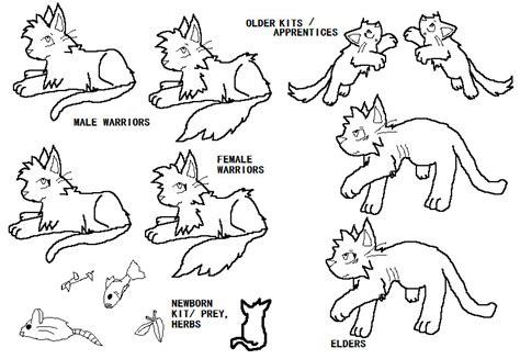 warrior cat template warriorcats favourites by deathkisser100 on deviantart