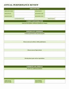 Free employee performance review templates smartsheet for Performance review template doc