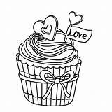 Cupcake Cupcakes Kleurplaat Kleurplaten Voor Je Kleurplatenpagina Coloring Volwassenen Eigen Maak Dessin Desenhos Pintura Ausmalbilder Tekening Colorir Persoonlijke Boordevol Coloriage sketch template