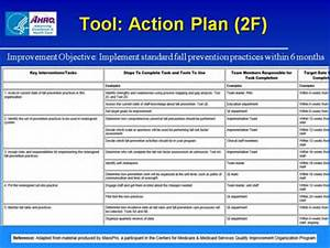 preventing falls in hospitals slide presentation With hospital action plan template