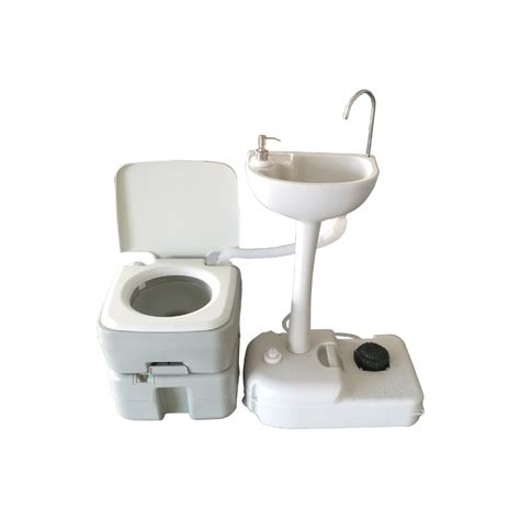 portable toilet sink combo 20l portable toilet flush cing hiking toilet potty and