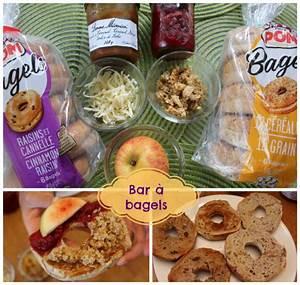 Idee Petit Dejeuner : id e d jeuner simple rapide et amusante un bar bagels je suis une maman ~ Melissatoandfro.com Idées de Décoration