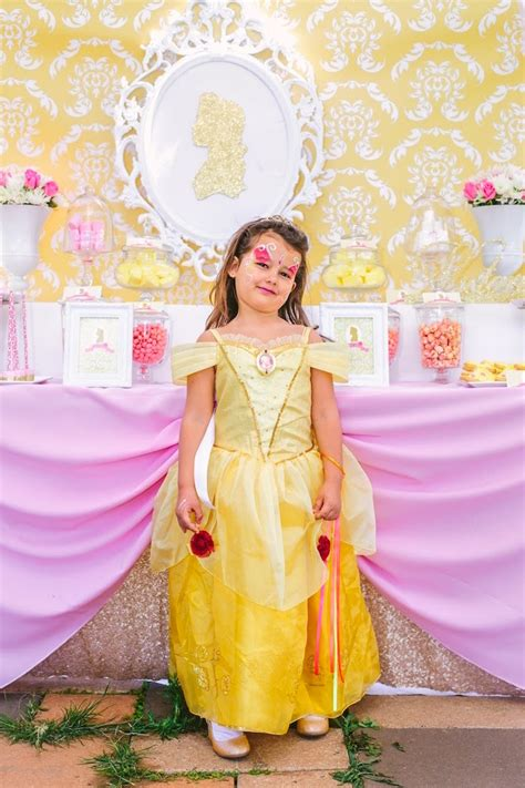 Kara's Party Ideas Princess Belle Beauty And The Beast Birthday Party  Kara's Party Ideas