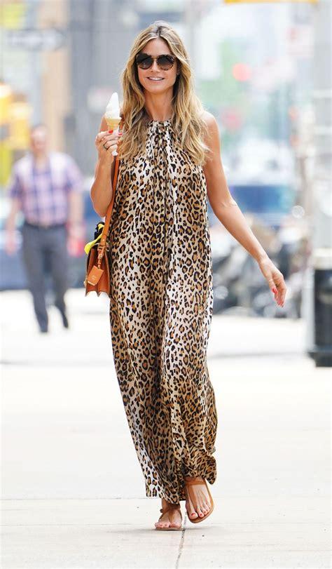Heidi Klum Out For Ice Cream New York