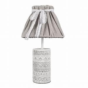 Chic Und Mit : tischlampe vintage chic wei grau mit verziertem betonfu shabby chic e14 ~ Orissabook.com Haus und Dekorationen
