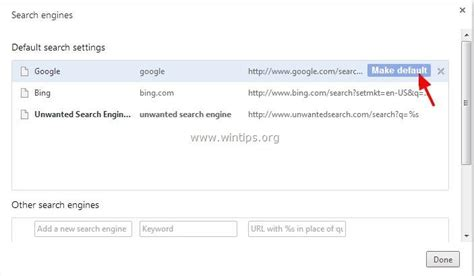 search engine organization how to remove nationzoom search page redirect