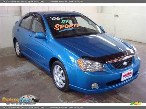 2006 Kia Spectra Ex Sedan Spark Blue / Gray Photo #6