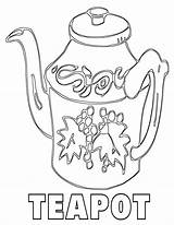 Teapot Coloring Pages sketch template