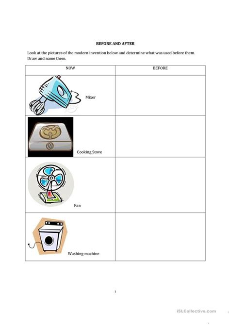 Then And Now Worksheet  Free Esl Printable Worksheets Made By Teachers