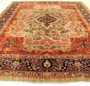 tapis persan de palais ancien noue a la main tapis With tapis oriental avec ancien canapé