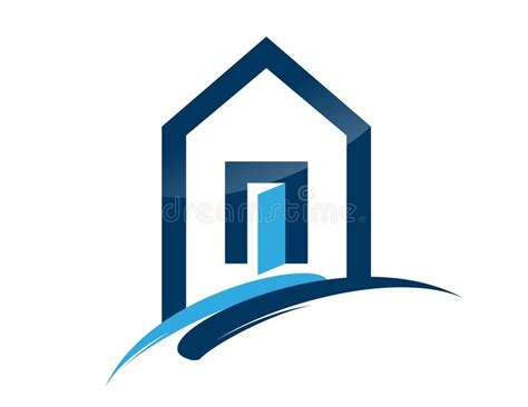 House, Home, Real Estate, Logo, Blue Architecture Symbol ...