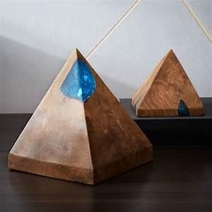 Wood, U0026, Resin, Pyramid, Object