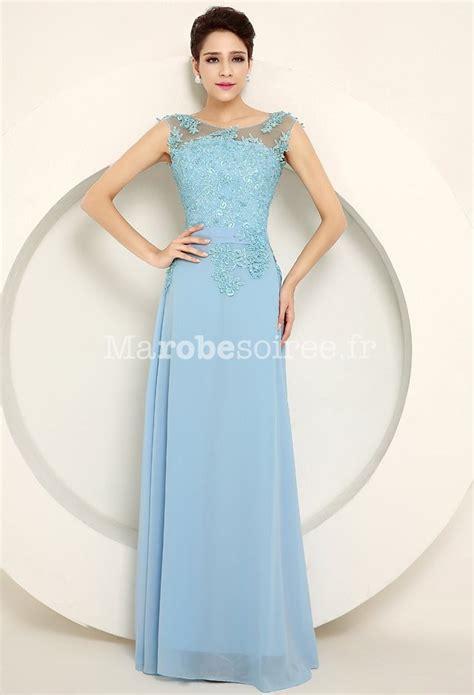 robe bleu pastel pour mariage robe de c 233 r 233 monie en mousseline et dentelle avec broderies