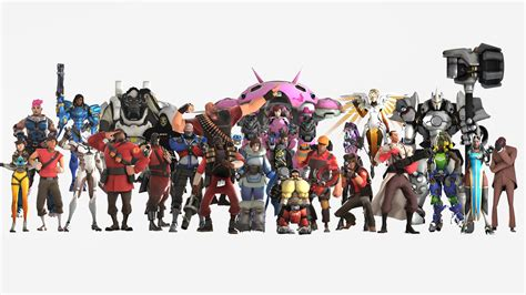 Team Fortress 2 Background Overwatch And Team Fortress 2 By Suijingames On Deviantart