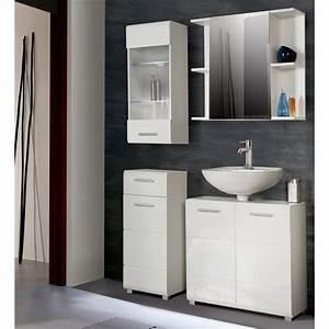 Salle De Bain Complete : aveo salle de bain compl te coloris blanc achat vente ~ Dailycaller-alerts.com Idées de Décoration