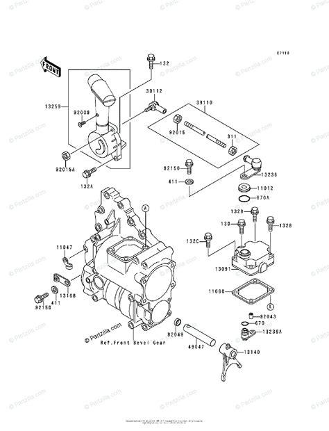 Kawasaki Atv Oem Parts Diagram For Control