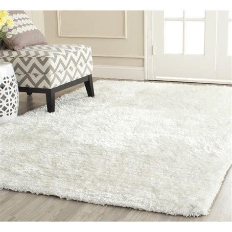 safavieh handmade south beach shag snow white polyester