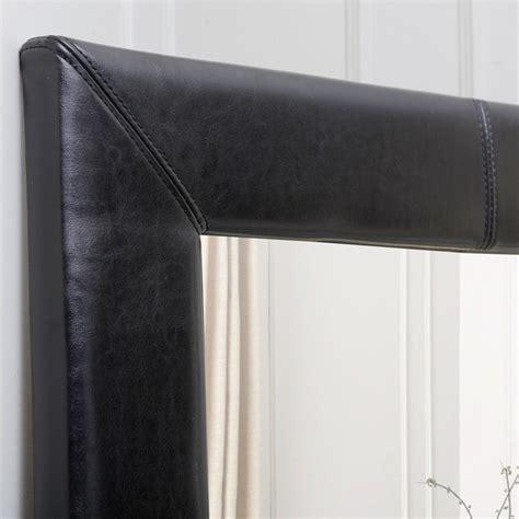 floor mirror leather abbyson living blaketon leather floor mirror in black hs mir 300 blk