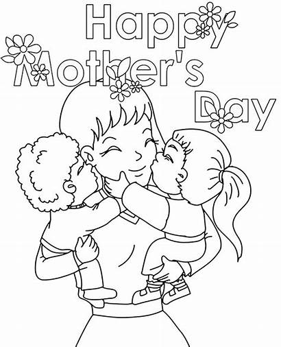 Coloring Card Mother Happy Mothers Cards Pages