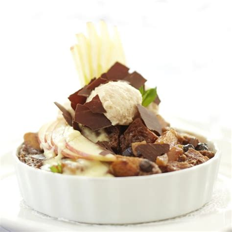 Virginia Beauty Apple Chocolate Bread Pudding With Ginger