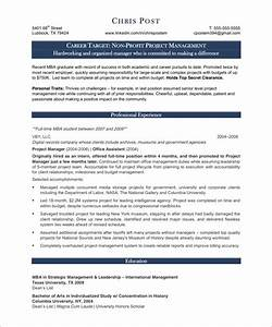 Project Manager Free Resume Samples