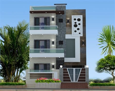 Top Photo Of Chitramukta 3d Exterior Front Elevation