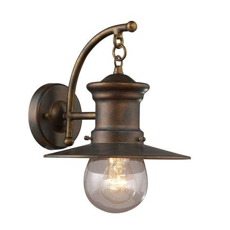 elk lighting maritime 1 light outdoor wall sconce l