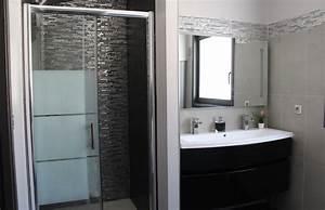 Modele Salle De Bain Avec Douche Italienne : modele salle de bain douche italienne modern aatl ~ Premium-room.com Idées de Décoration